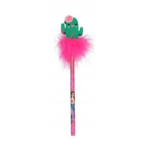 Depesche Top Model Pencil With Eraser-Topper - Cactus