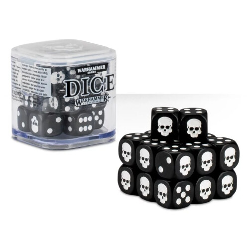 Warhammer Accessories - Citadel Dice Cube: Black