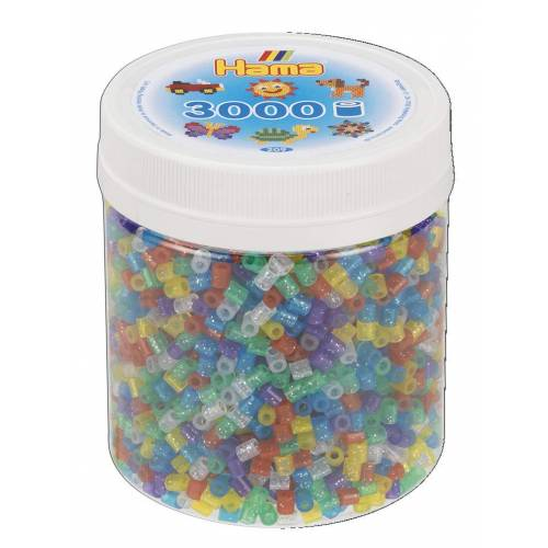 Hama Beads 209-54 3000 Tub Glitter Mix