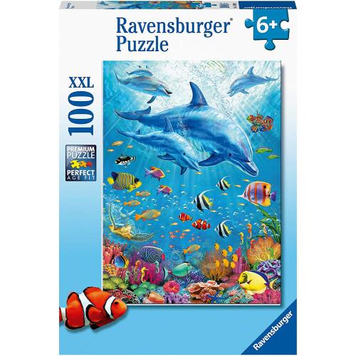Ravensburger 100 XXL Piece Puzzle Pod of Dolphins