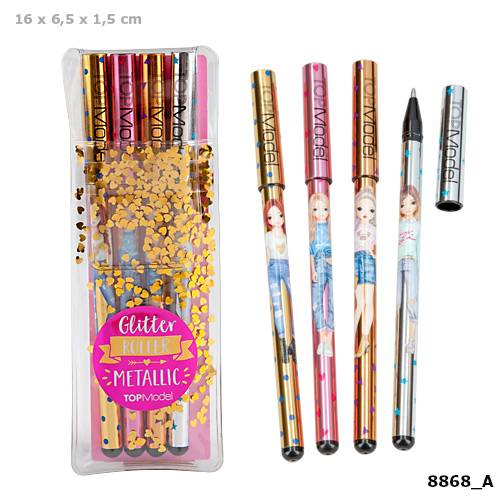 Depesche Top Model Gelpen Set 4 Metallic Colours