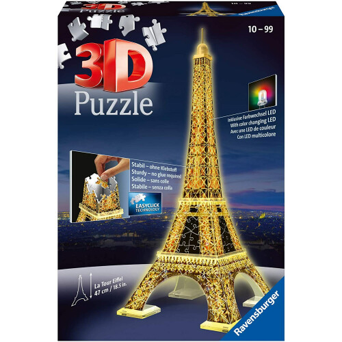 Ravensburger 226pc 3D Jigsaw Puzzle La Tour Eiffel Night Edition