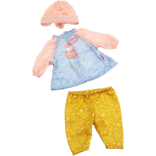 Baby Annabell Clothing - Lamb Pogo Top Yellow Trousers