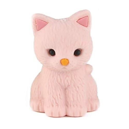 Iwako Puzzle Eraser - Pastel Cat (Pink)
