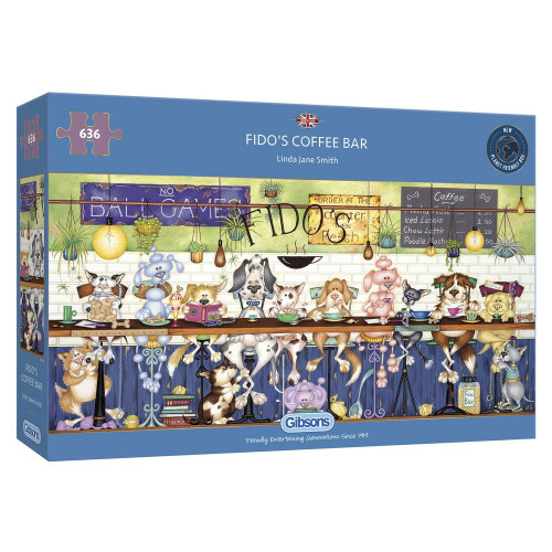 Gibsons Fido's Coffee Bar 636pc Puzzle