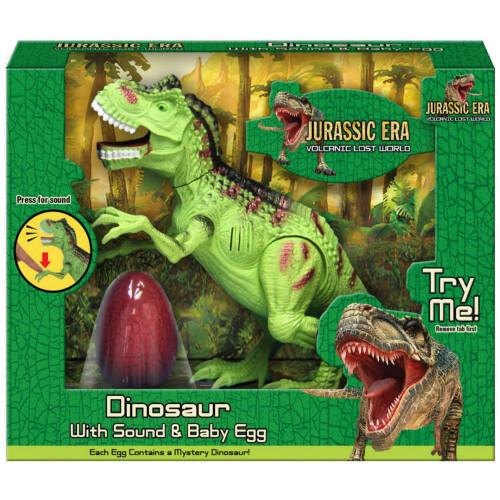 Jurassic Era Dinosaur with Sound & Baby Egg - Green