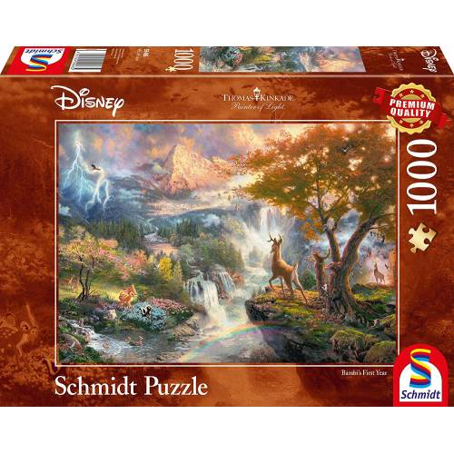 Thomas Kinkade Disney Bambi 1000pc Jigsaw Puzzle