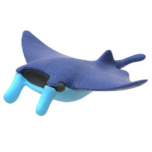 Iwako Puzzle Eraser - Sea Animals - Manta Ray (Blue)