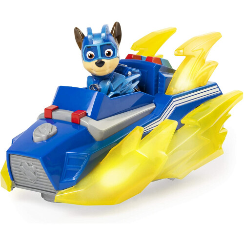 Paw Patrol Mighty Pups Charged Up - Chase Deluxe Vehicle