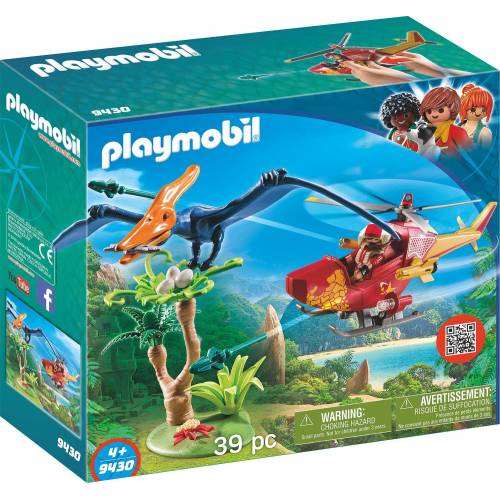 Playmobil 9430 Helicopter with Pterosaur