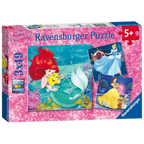 Ravensburger 3 x 49pc Puzzles Disney Princess Adventure