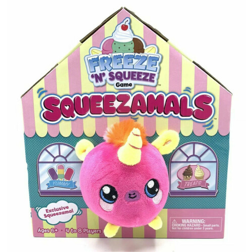 Squeezamals Freeze 'N' Squeeze Game - Pink Unicorn