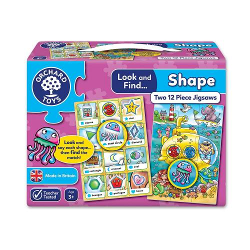 Orchard Look and Find Shape Jigsaw Puzzle
