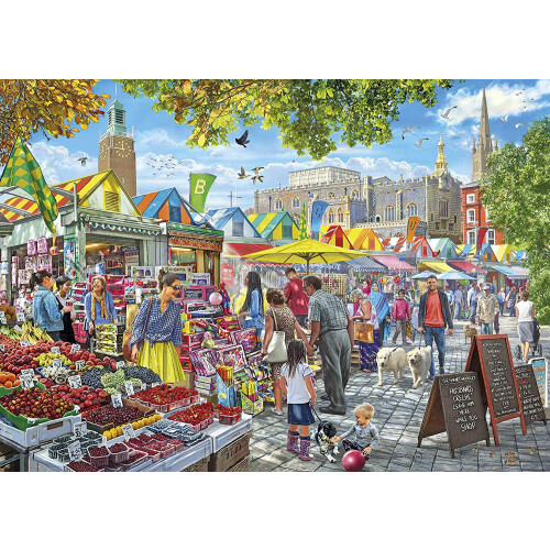 Gibsons Market Day Norwich 1000pc Puzzle