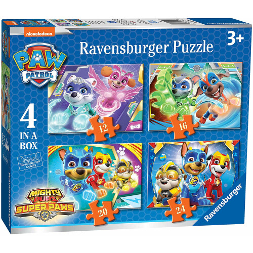 Ravensburger 4 Puzzles in a Box Paw Patrol Mighty Pups