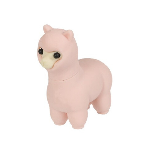 Iwako Puzzle Eraser - Sheep and Alpaca - Alpaca (Pink)