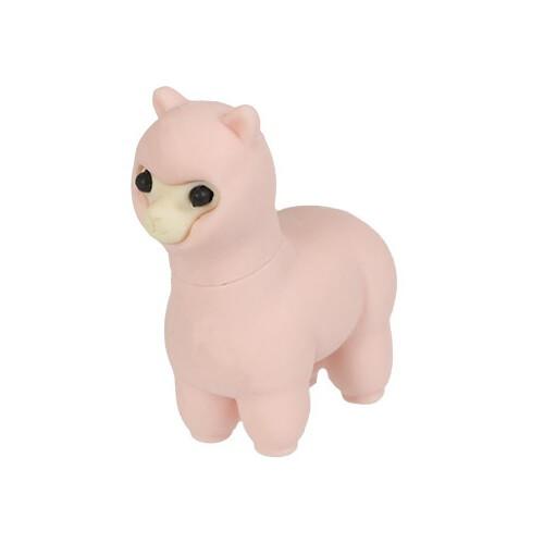 Iwako Puzzle Eraser - Sheep and Alpaca - Alpaca (Pink)
