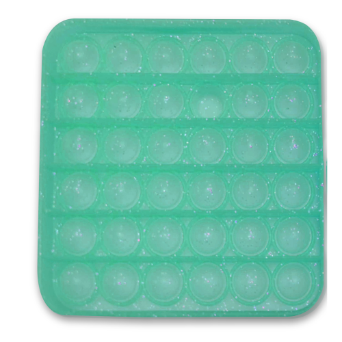 Glitter Push Poppers - Green Square