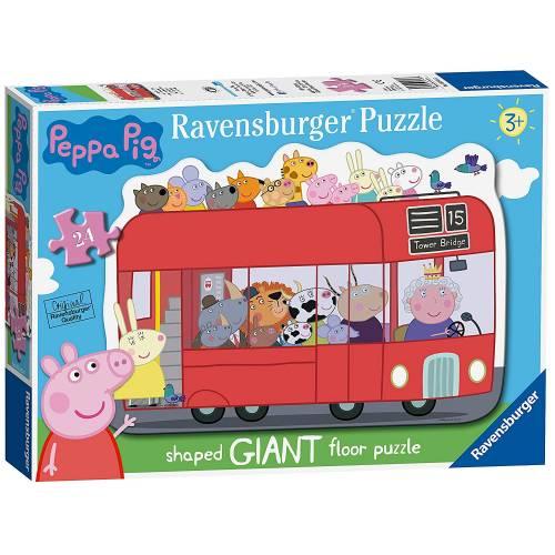 Ravensburger Giant Shaped 24pc London Bus Floor Puzzle Peppa Pig