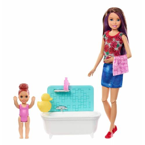 Barbie Skipper Babysitters INC Playset with Bathtub