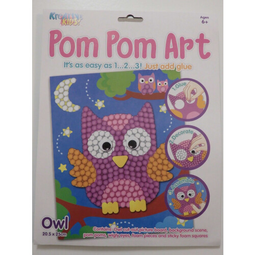 Kreative Kids - Pom Pom Art Owl