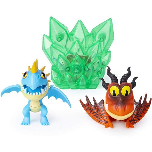 Dragons Bioluminescent Mini Dragons - Stormfly + Hookfang