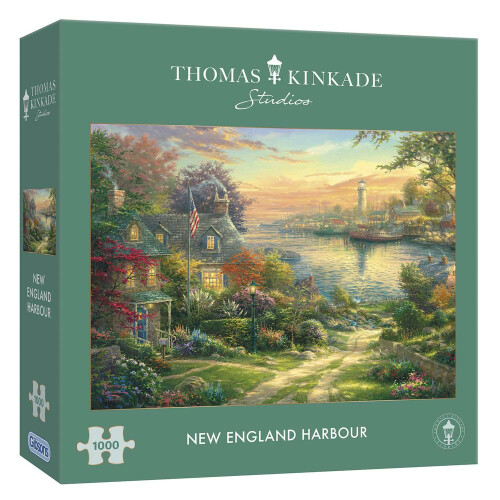 Gibsons Thomas Kinkade New England Harbour 1000pc Puzzle