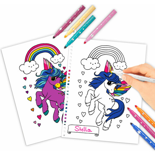 Depesche Ylvi & the Minimoomis Create Your Unicorn with Pens