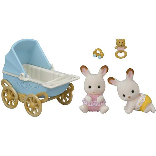 Sylvanian Families Chocolate Rabbit Twins Set