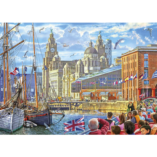 Gibsons Albert Dock Liverpool 1000pc Puzzle