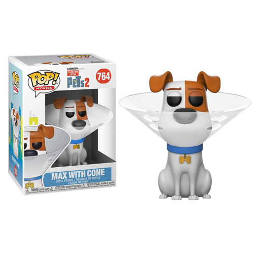 Funko Pop Vinyl - The Secret Life of Pets 2 - Max with Cone 764