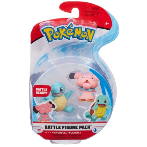 Pokemon Battle Figure Set - Snubbull and Squirtle