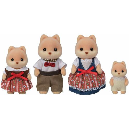 Sylvanian Families Caramel Dog Family