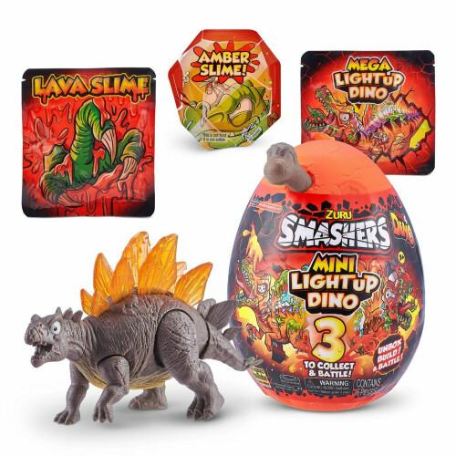 Zuru Smashers Series 4 Mini Light Up Dino - Stegosaurus (Grey)