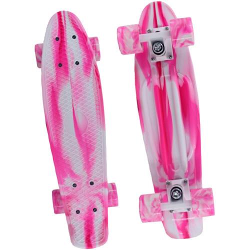 "M.Y X-Skate 22"" Retro Skateboard - Pink"