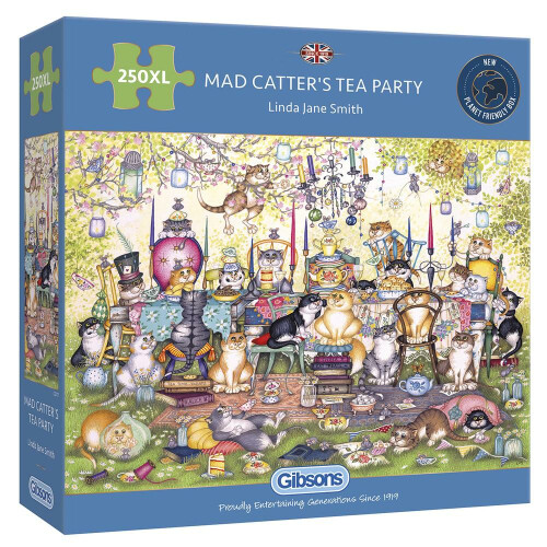Gibsons Mad Catter's Tea Party 250pc XL Puzzle