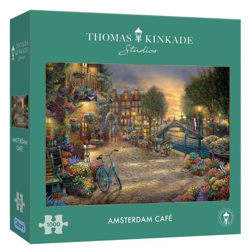 Gibsons Thomas Kinkade Amsterdam Cafe 1000pc Puzzle