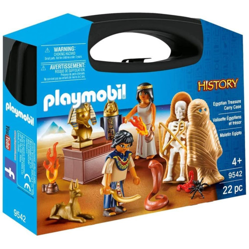 Playmobil 9542 History Egyptian Treasure Carry Case