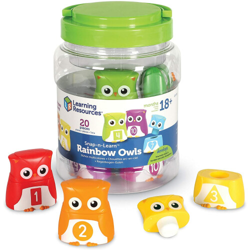 Learning Resources Snap-n-Learn Rainbow Owls