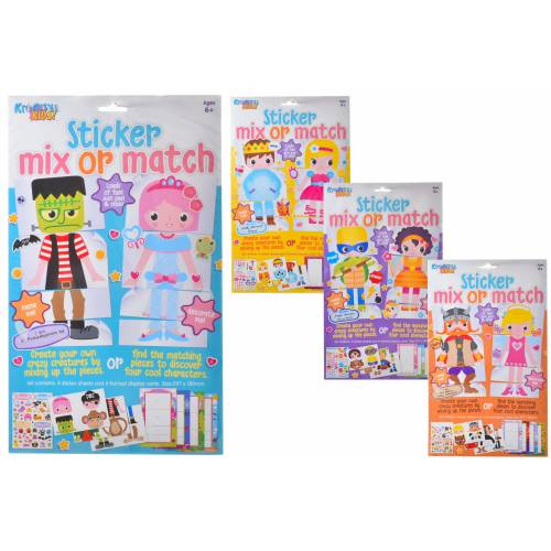 Kreative Kids - Sticker Mix or Match - Assorted