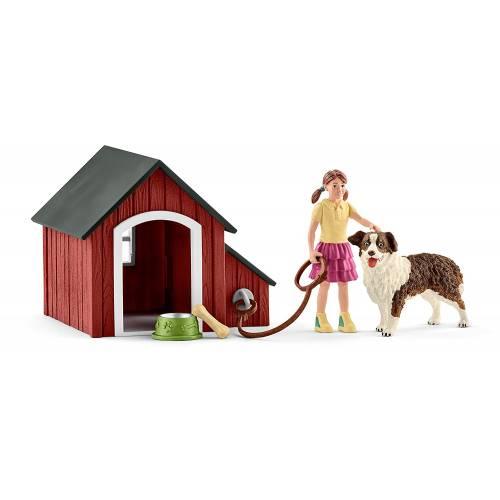 Schleich Farm Life Accessories 42376 Dog Kennel