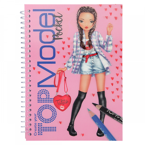 Depesche Top Model Pocket Colouring Book with 3D Cover - Talita