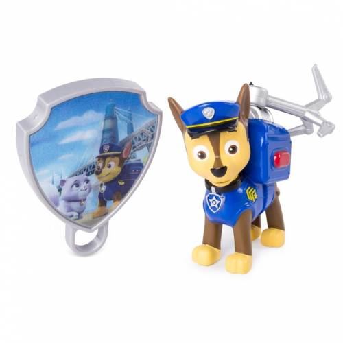 Paw Patrol Action Pack Pup with Extendable Hook and Badge - Chase