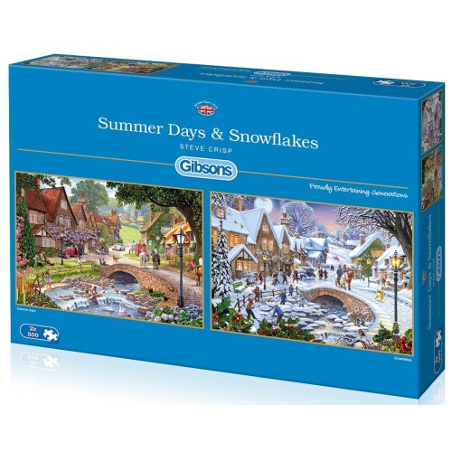 Gibsons Summer Days & Snowflakes 2x 500pc Puzzles