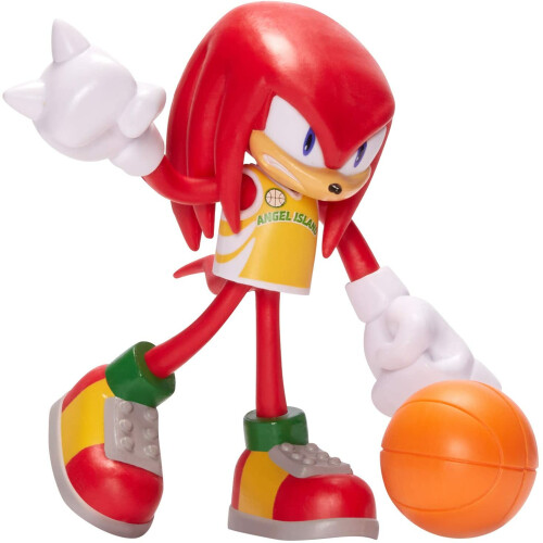 Sonic The Hedgehog Bendable Figure - Knuckles with Basketball
