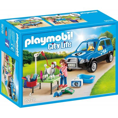 Playmobil 9278 Hotel Mobile Pet Groomer with Removeable Roof