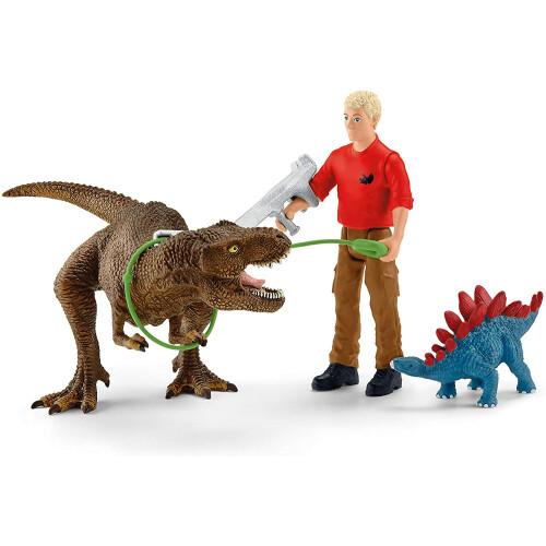 Schleich 41465 Tyrannosaurus Rex Attack Dinosaurs