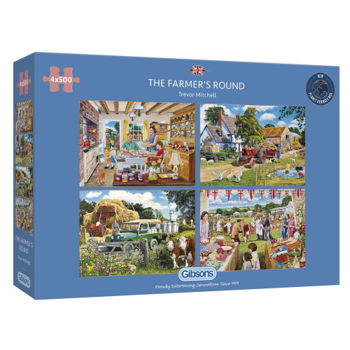 Gibsons The Evacuees 4x 500pc Puzzles