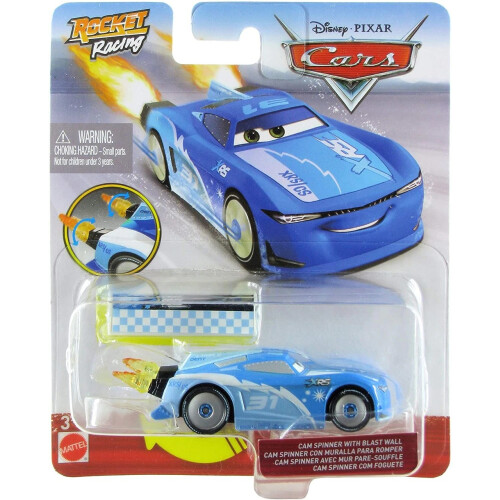 Disney Cars Rocket Racing - Cam Spinner with Blast Wall