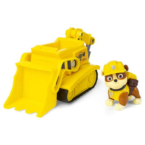 Paw Patrol Basic Vehicle with Pup - Rubble Bulldozer